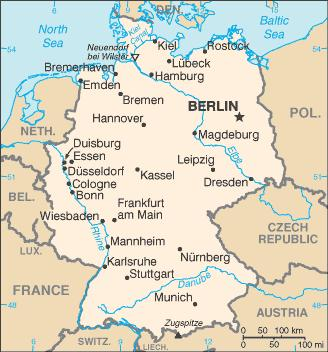 Harta Nurnberg Germania Harta